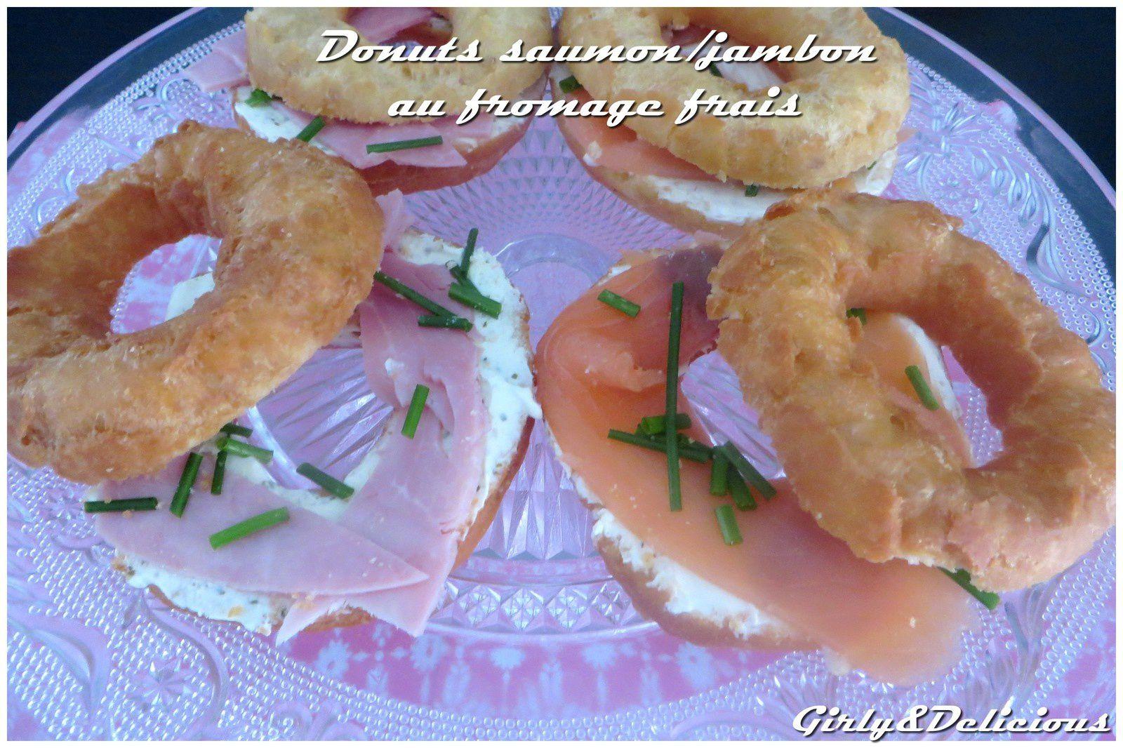 Donuts au saumon ou jambon et au fromage frais
