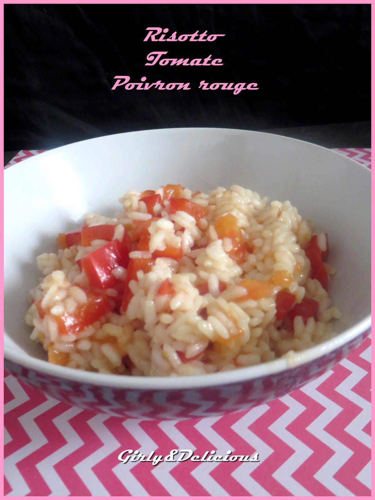 Risotto de Tomate et Poivron Rouge