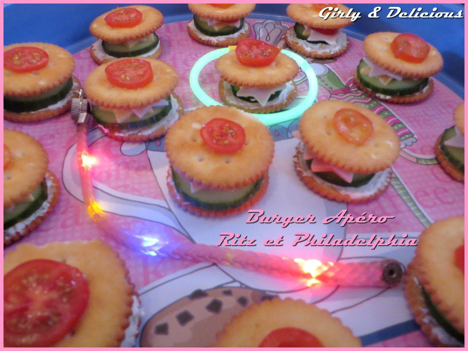 Burger Apéro Ritz et Philadelphia