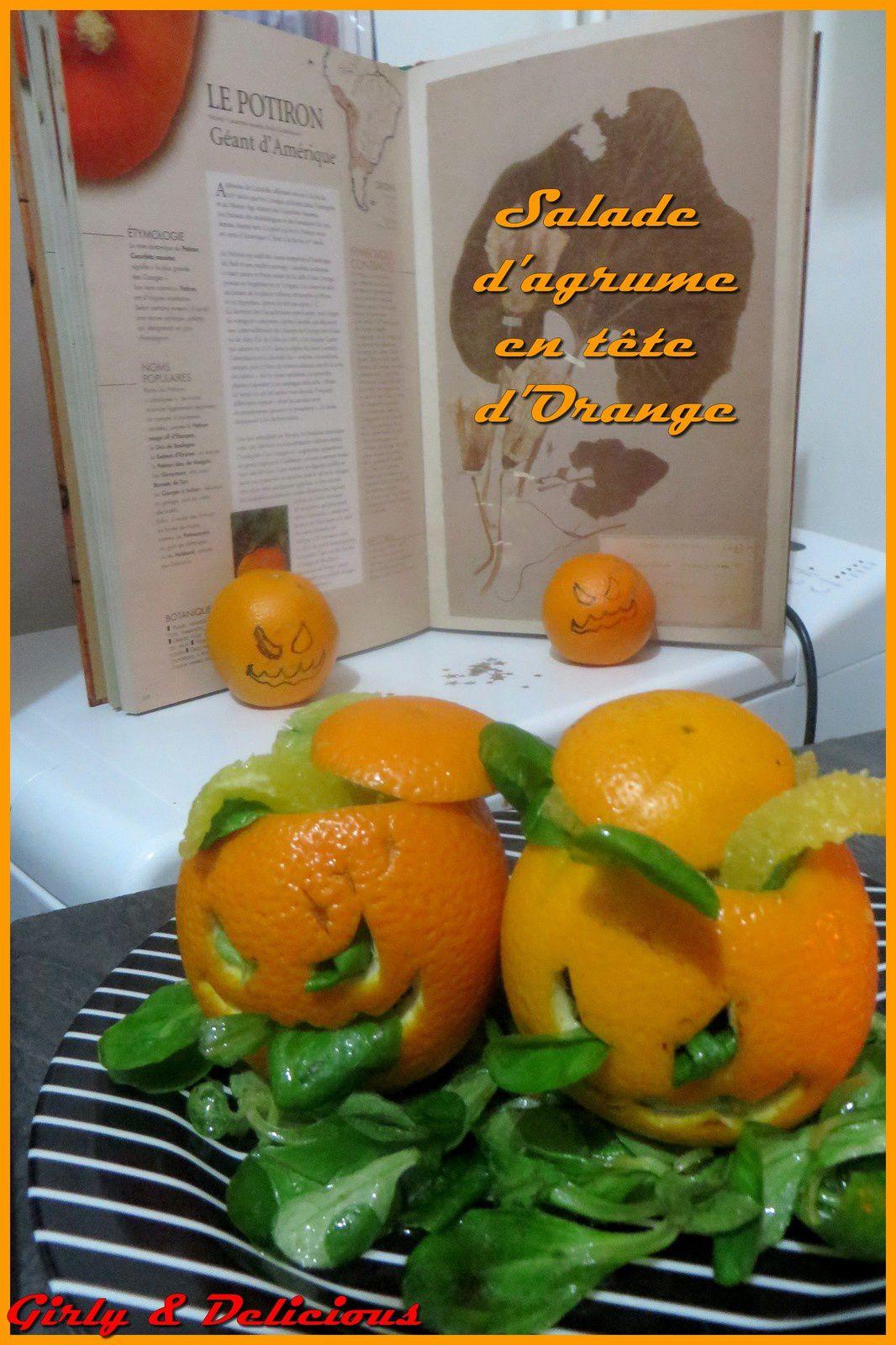 Salade d'agrumes en tête d'Orange