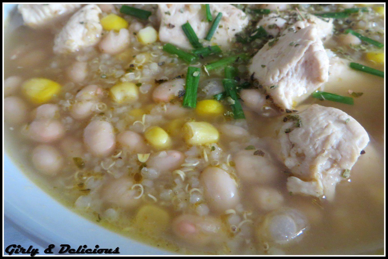 White chili au quinoa &amp&#x3B; poulet