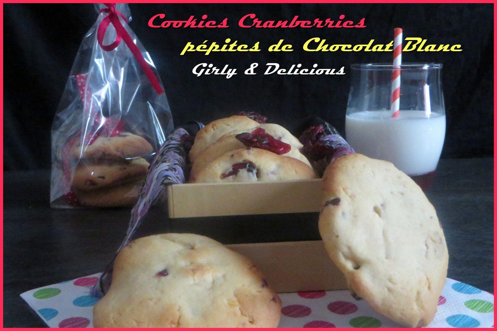 Cookies Chocolat Blanc et Cranberries séchés