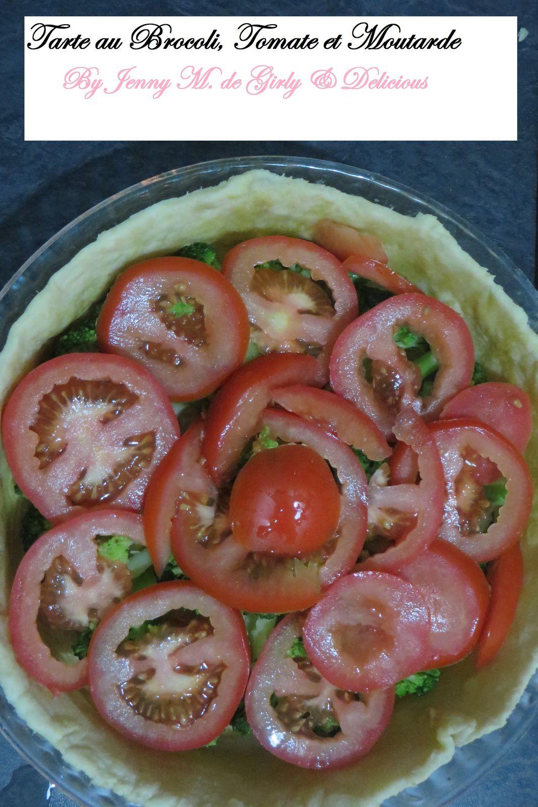 Tarte Brocoli, Tomate et Moutarde