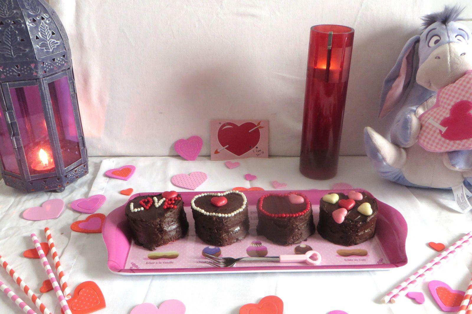 Bouchée : Red Velvet, Guimauve et chocolat pour la St Valentin