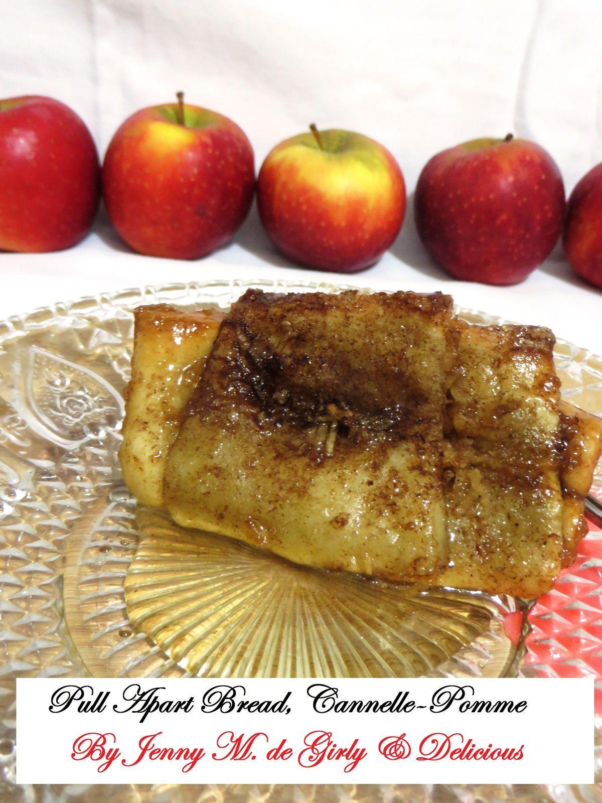 Apple ciannom Pull-Apart Bread ou Pain à effeuiller Cannelle-Pomme