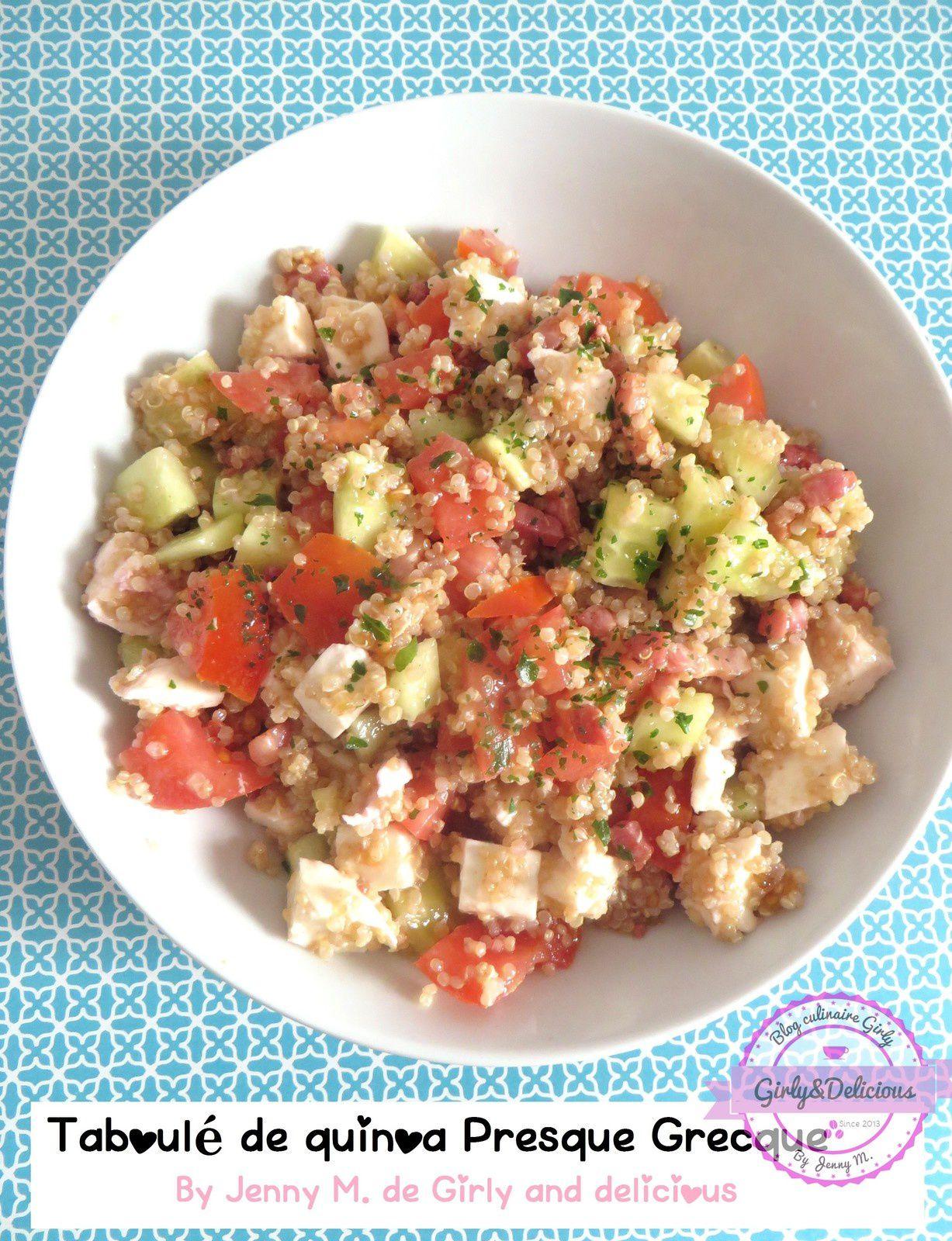Taboulé de quinoa presque à la Grecque.