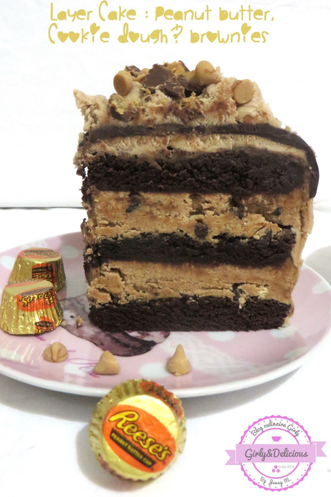 Layer Cake Peanut Butter, Cookie Dough &amp&#x3B; Brownie