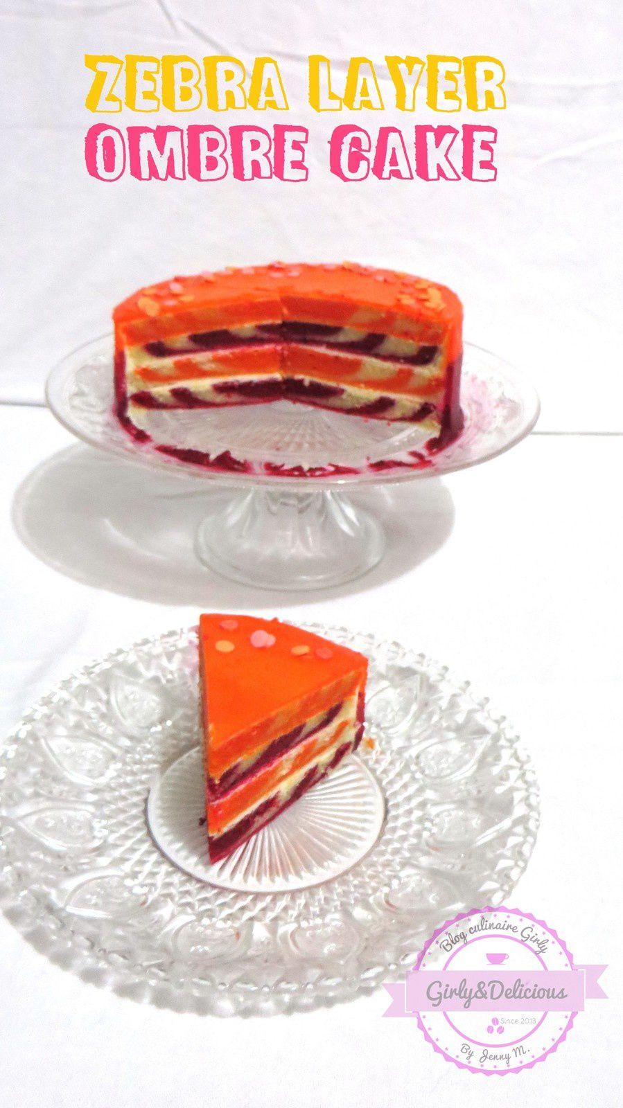 Zebra Layer Ombre Cake