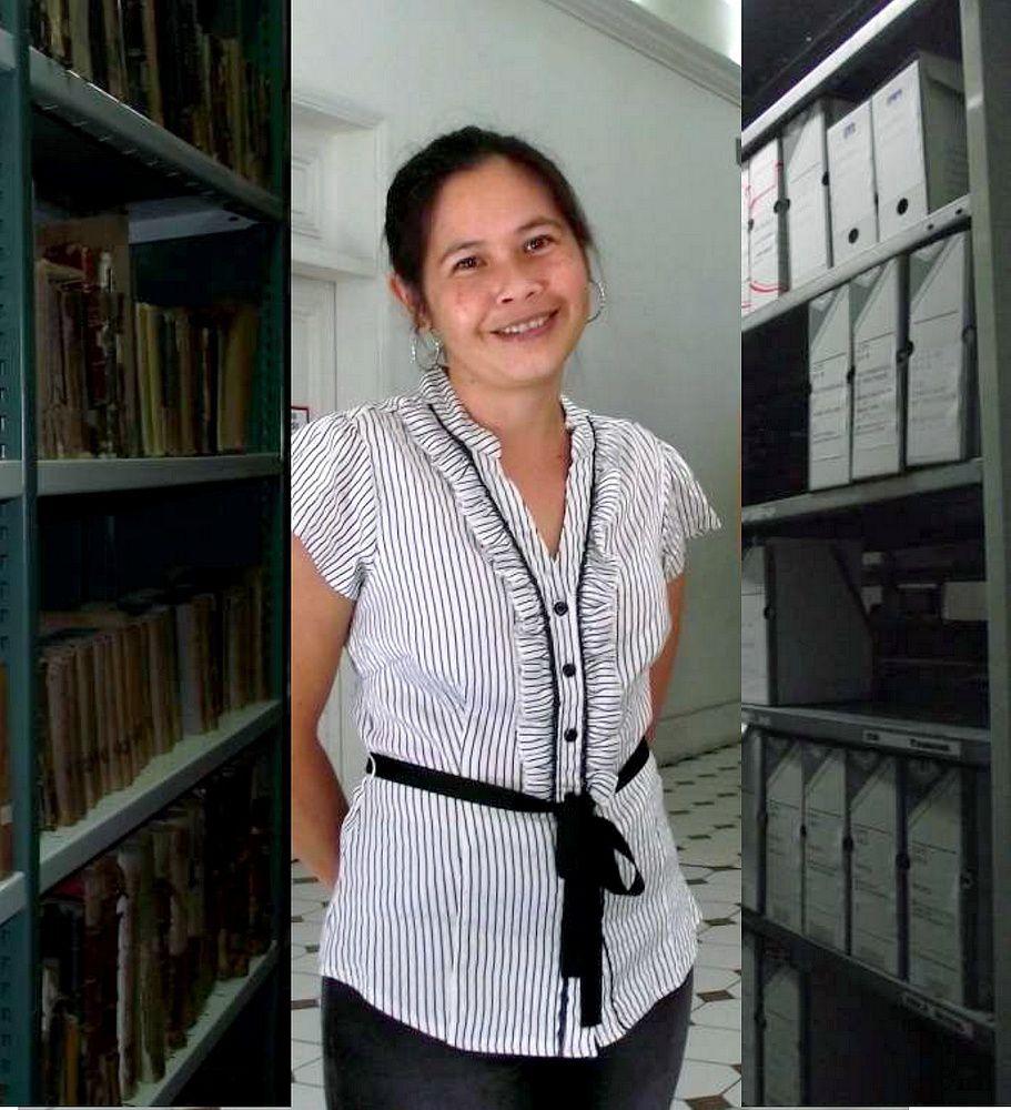 Marguerite responsable du patrimoine et des livres (JP)