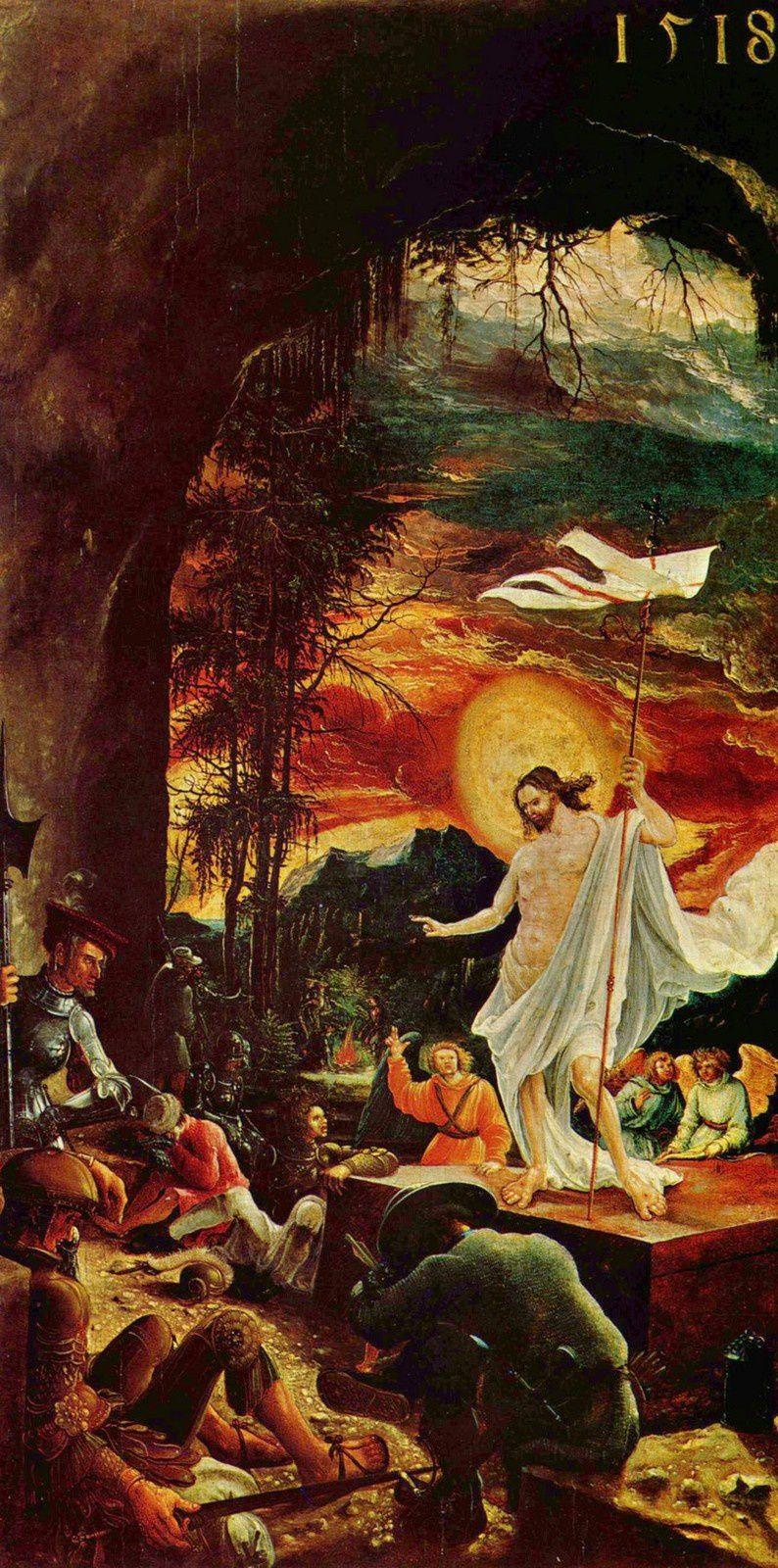 « La résurrection de Jésus-Christ » par Altdorfer.