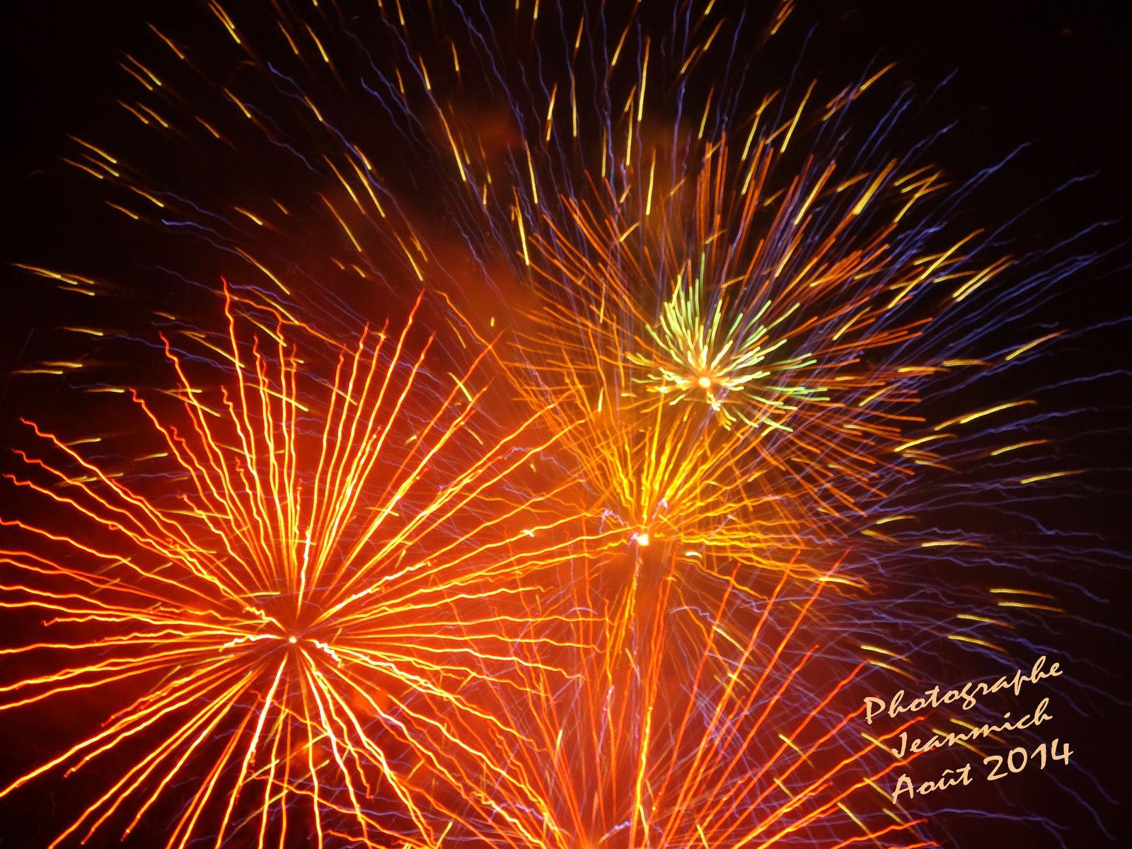 Fête nationale Suisse les feux d'artifices