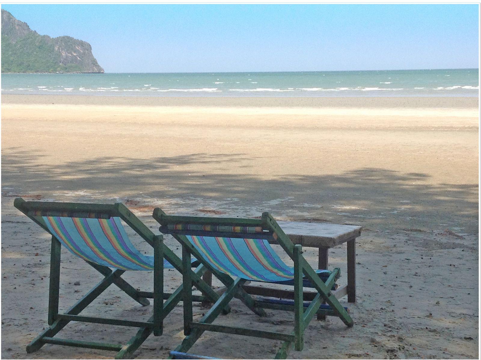 Au repos dans une des nombreuses plages tranquilles de Thaïlande....