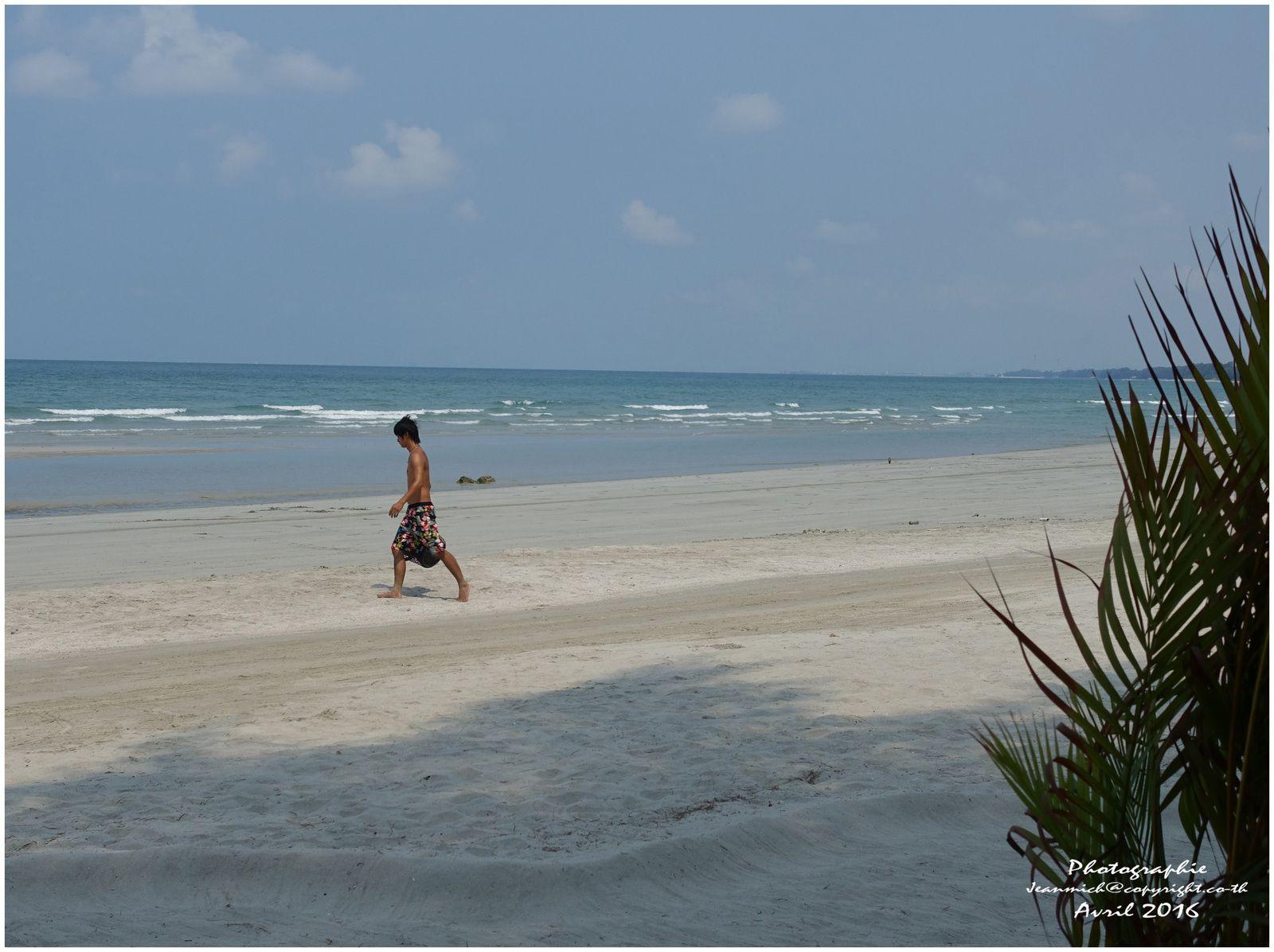 Pratiquement personne sur cette longue plage.