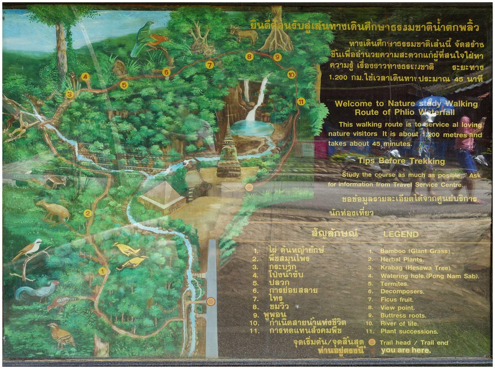 Un panneau proche de l'entrée vous permet de visionner les différents cheminements possible.
