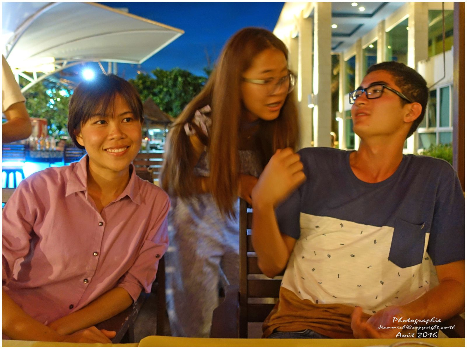Pui, sa soeur Pio et Lionel