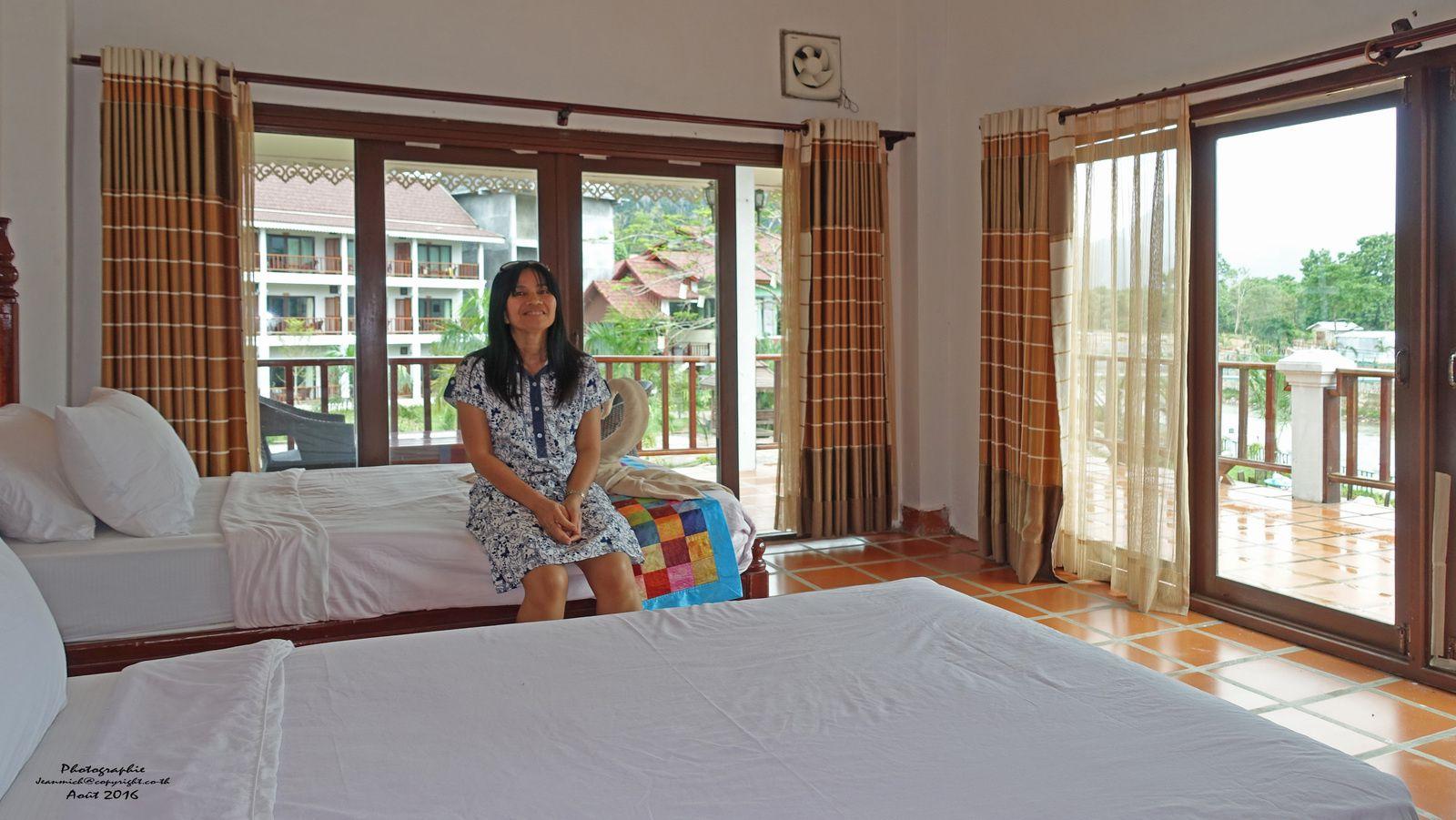 Notre hôtel à Vang Vieng (Laos)