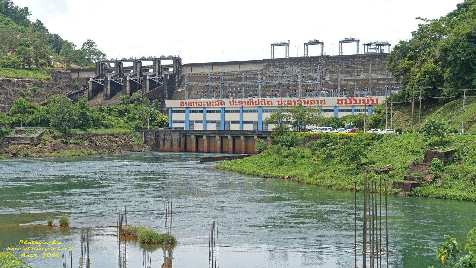 Le barrage de Nam Ngum (Laos pays exportateur d'énergie)