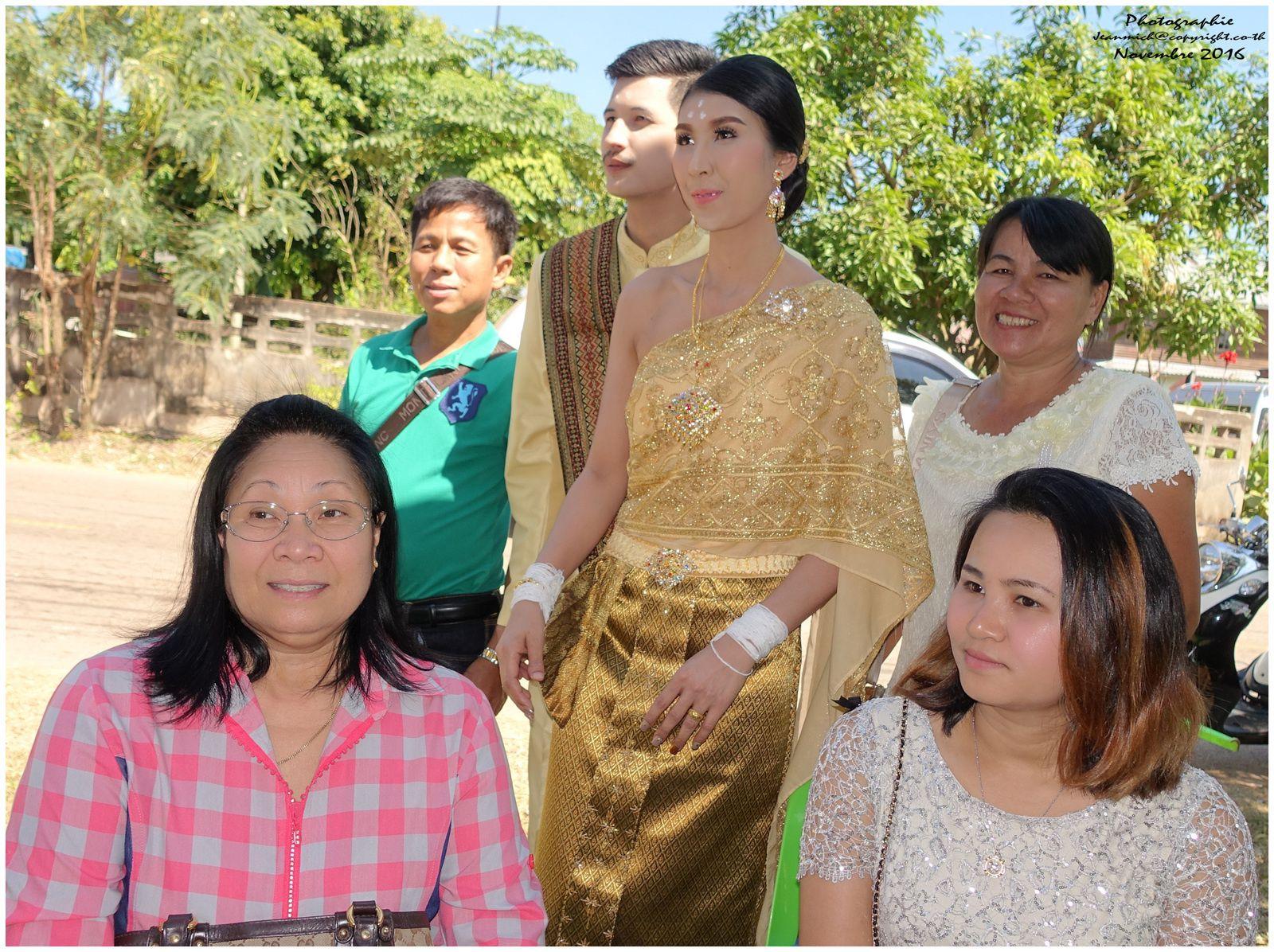 Le mariage dans le village de Nun Pho (Thaïlande, Issan, Roi Et,  Phon Tong)