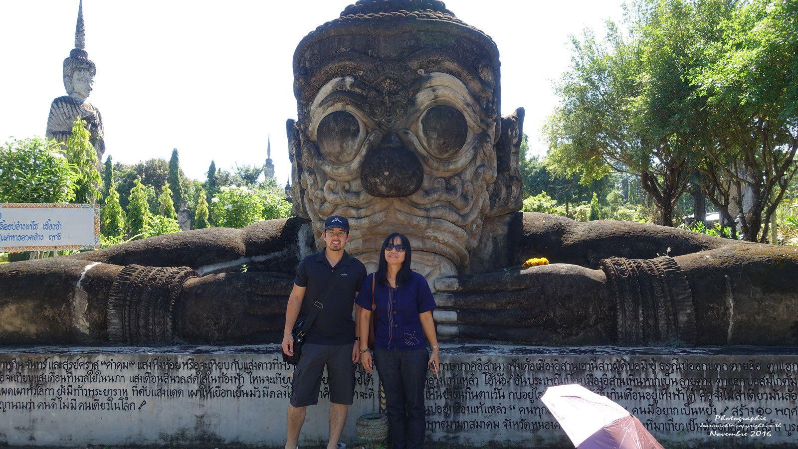 Le jardin de Sala Keoku : ศาลาแก้วกู่ (Nong Khai Thaïlande)