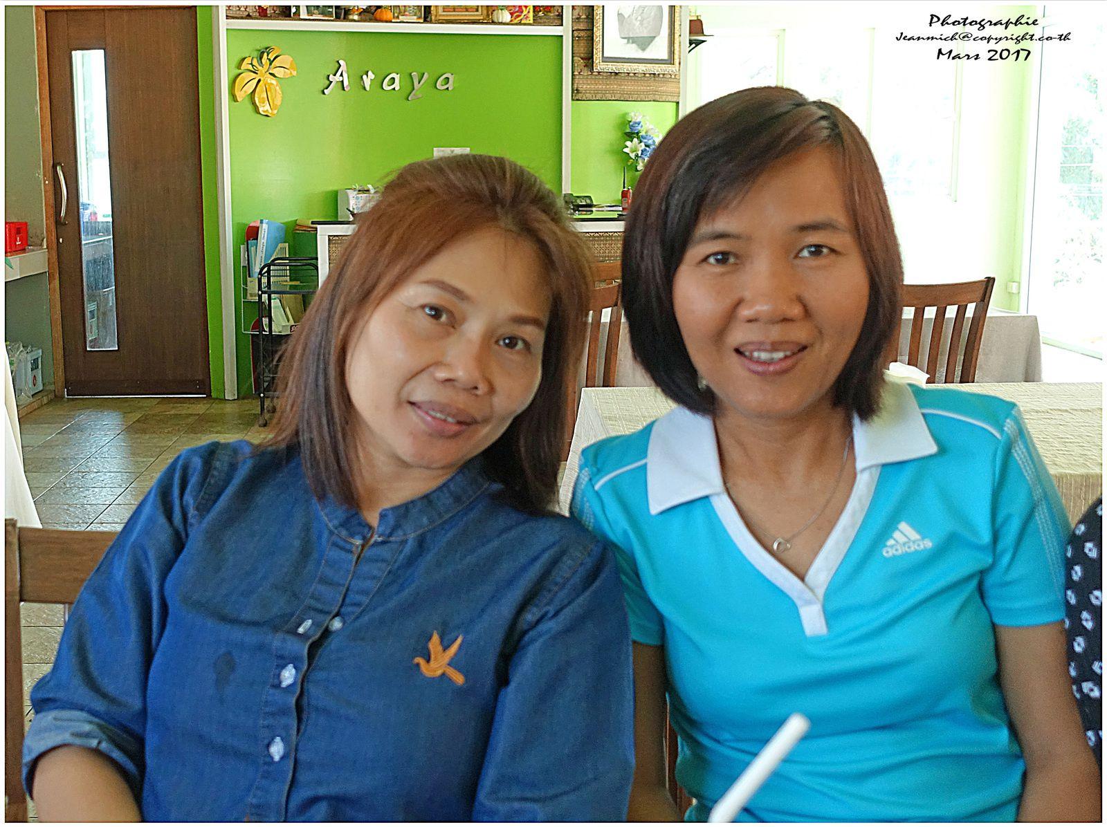 Jane et Kodcha l'épouse de Craig notre ami australien