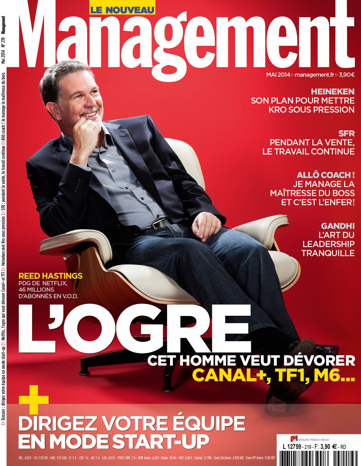 Carlos Tavares et Reed Hastings en couv. de Management
