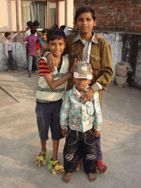 Shivanj, Athul et Chintu.