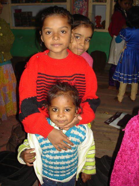 Ayushi, Vandana et Muskan.