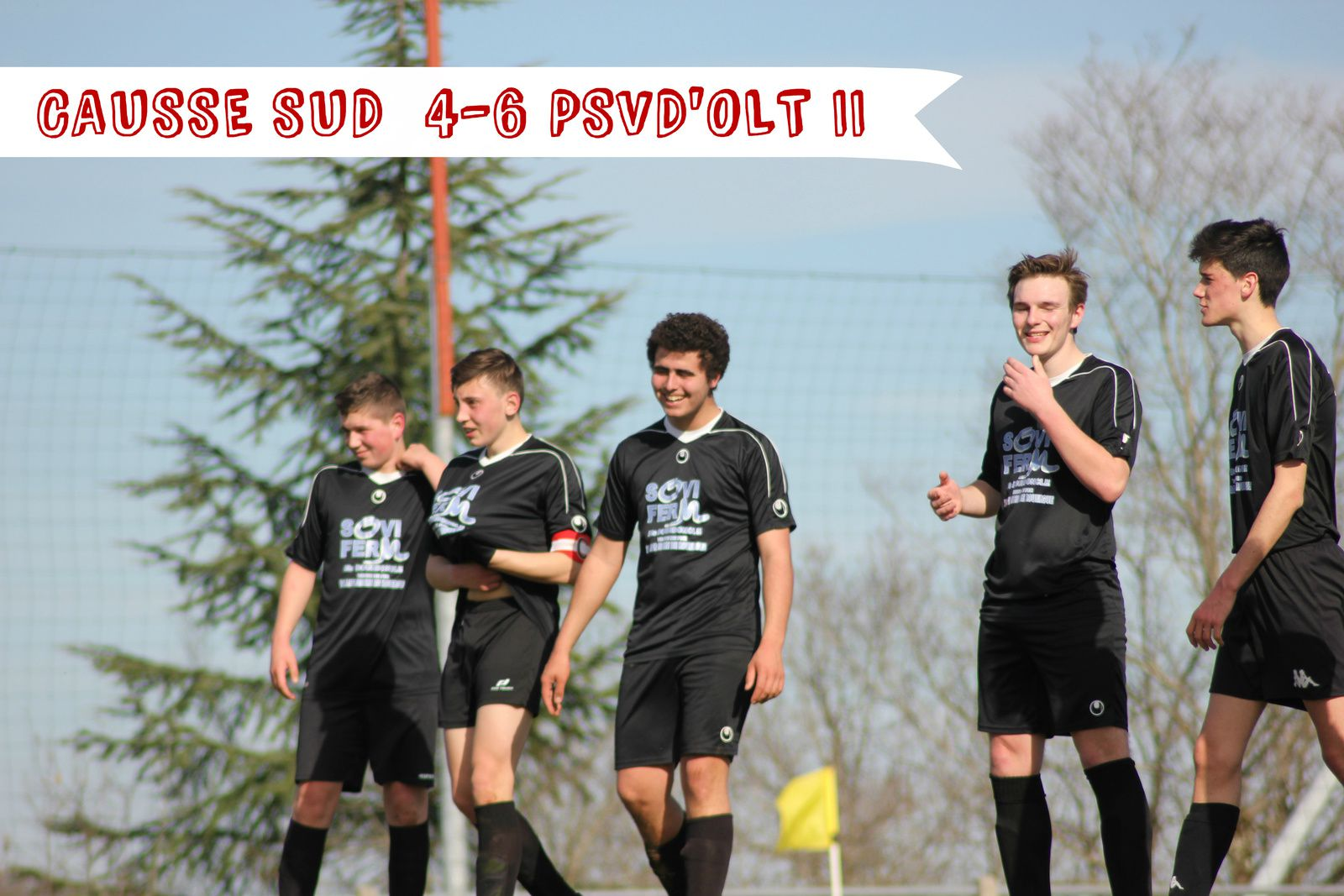 U17 &gt&#x3B; Des buts, mais une défaite.