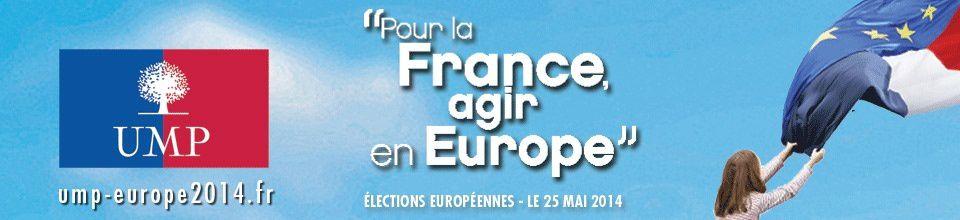 Le site de l'UMP pour les européennes est lancé !