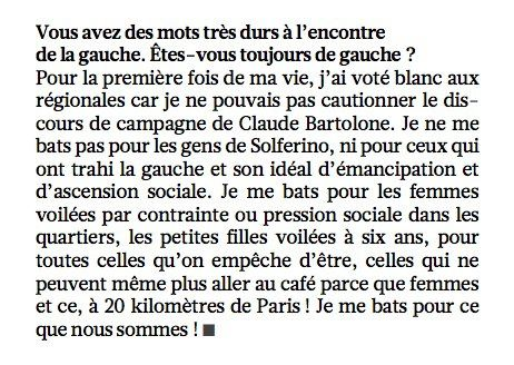 Extrait de son interview accordé au magazine Le Point