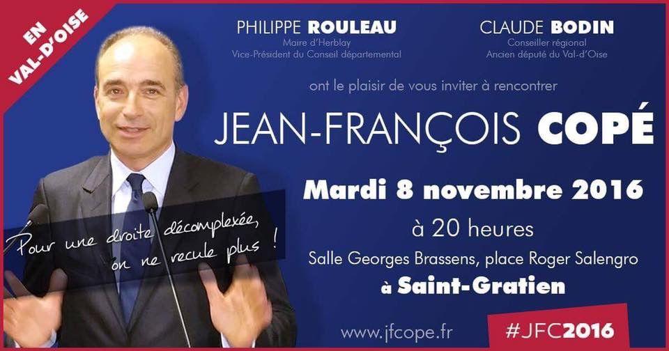 Jean-François Copé le 8 novembre à Saint-Gratien