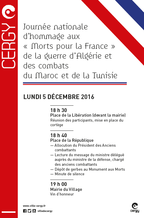 Journée d'Hommage du 5 décembre 2016 (Algérie, Maroc, Tunisie)
