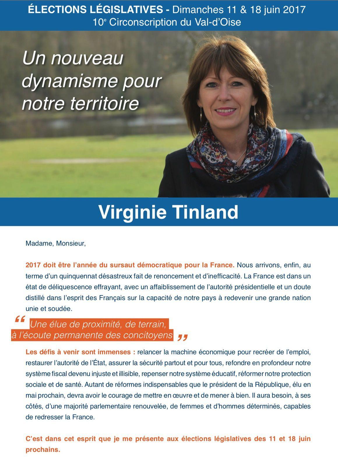 Tract de lancement de campagne de Virginie Tinland