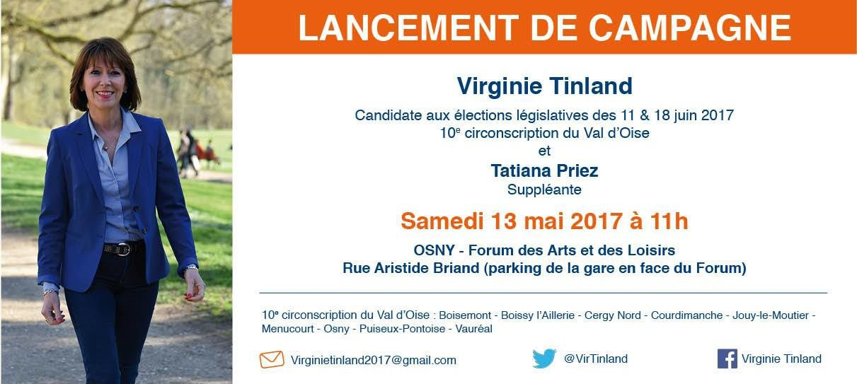 Meeting de lancement de campagne de Virginie Tinland