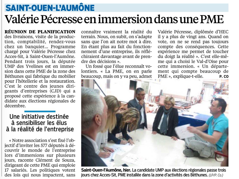 Le Parisien édition du Val d'Oise (28/04/2015)