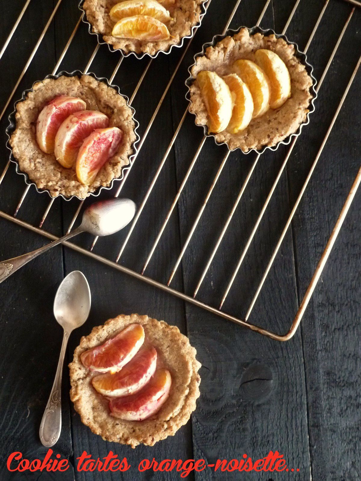 Cookies-tartes à la noisette et à l'orange