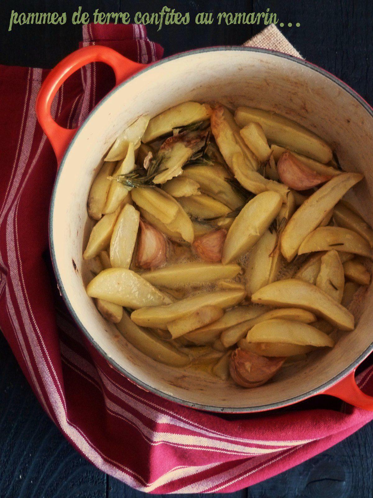 Pommes de terre confites au romarin