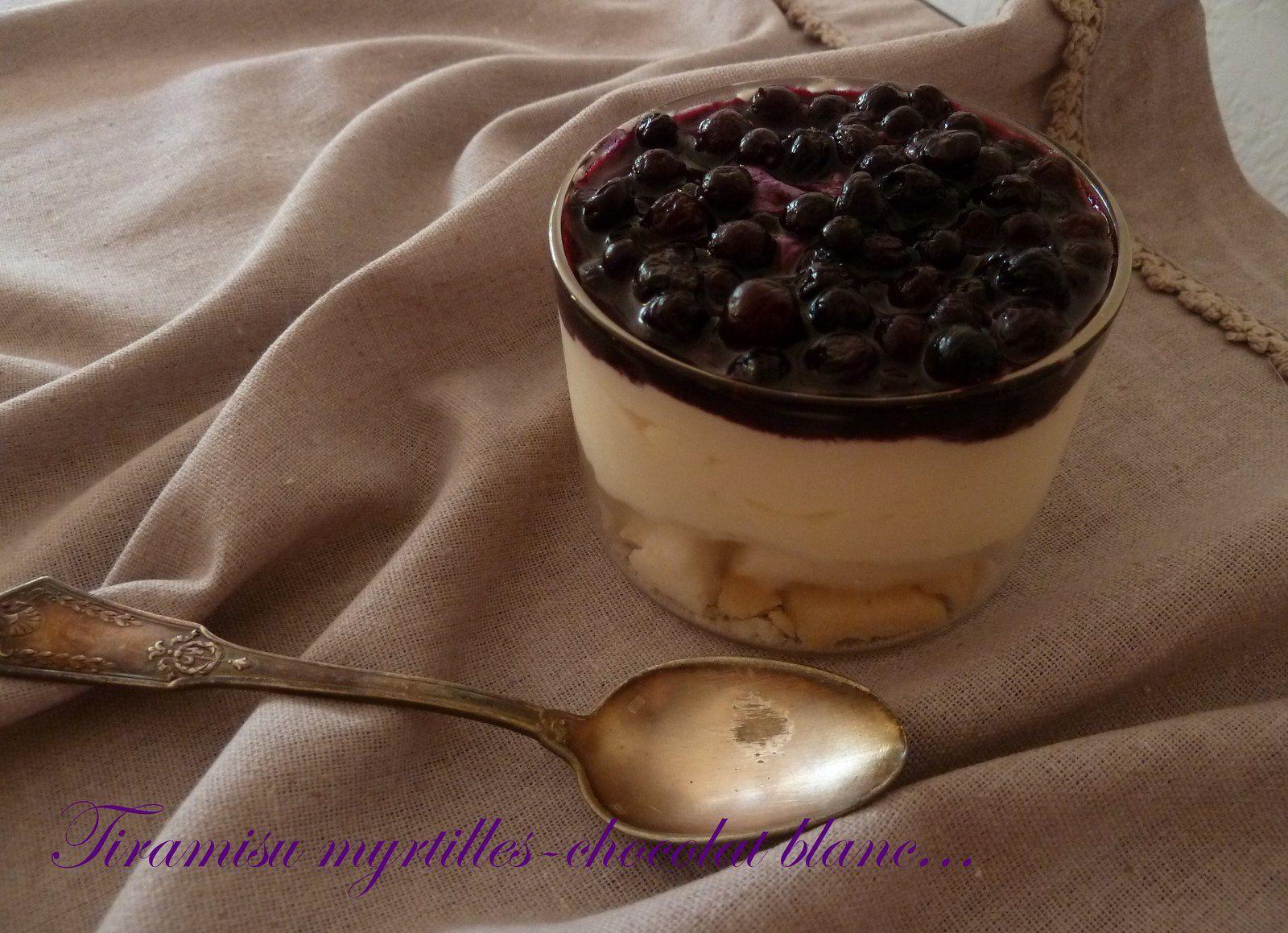 Tiramisu myrtille chocolat blanc