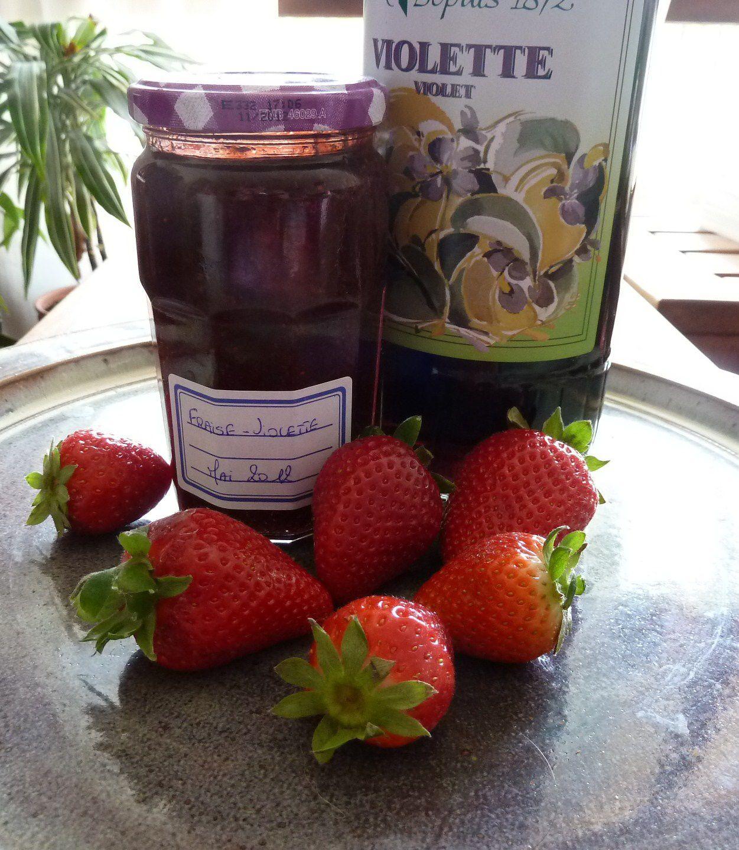 confiture fraise violette