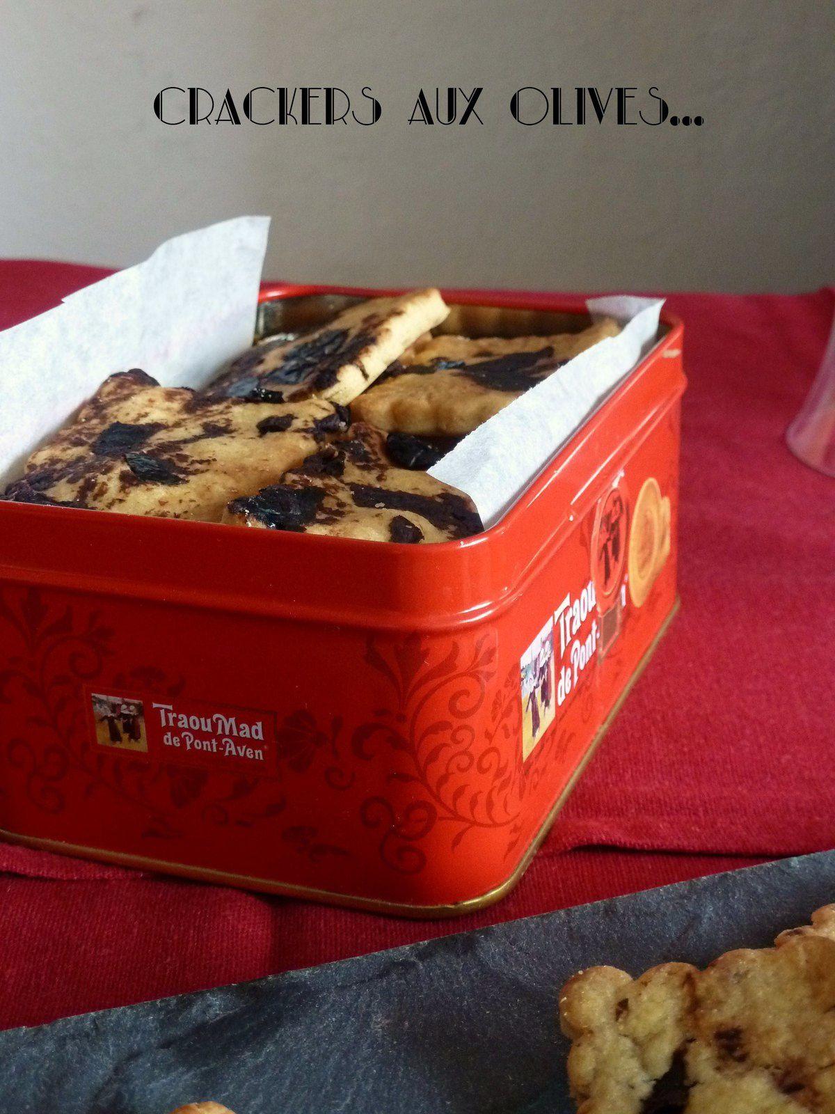 Crackers aux olives et à la farine de maïs