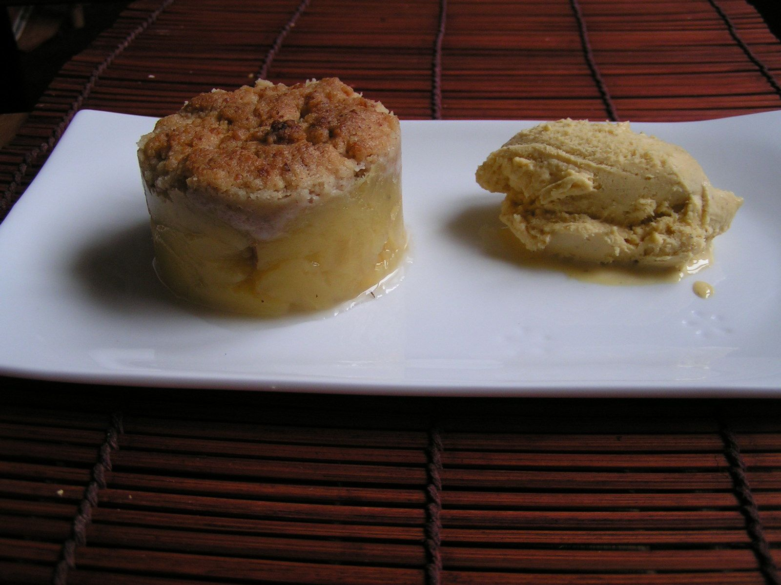 Crumble pomme menthe