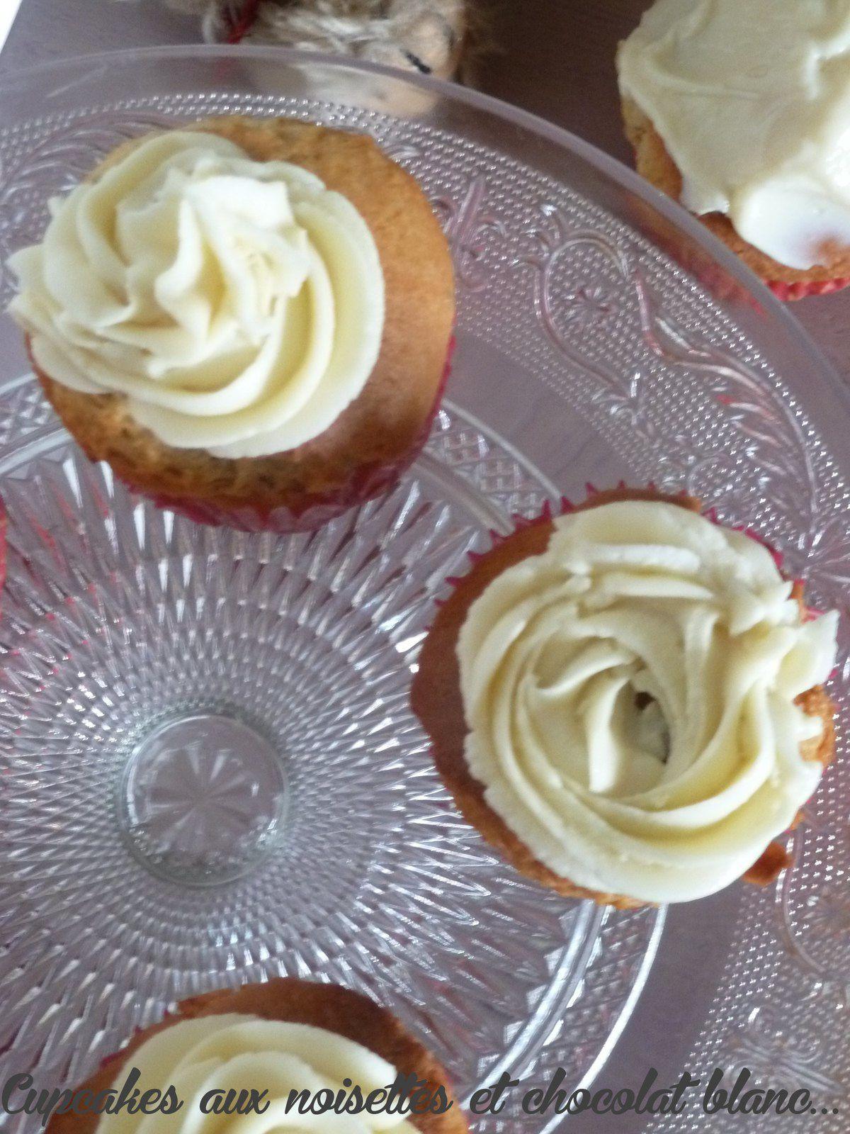 Cupcake aux noisettes et chocolat blanc