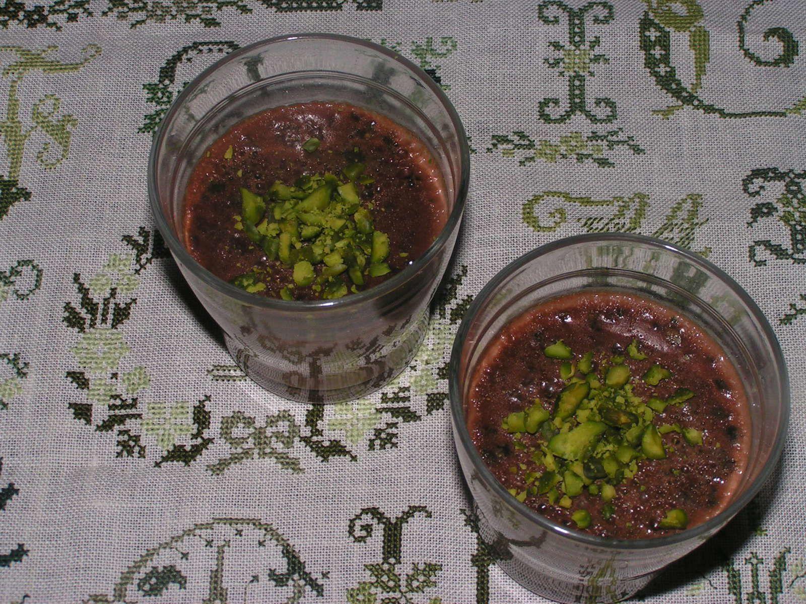 Panna cotta chocolat pistache