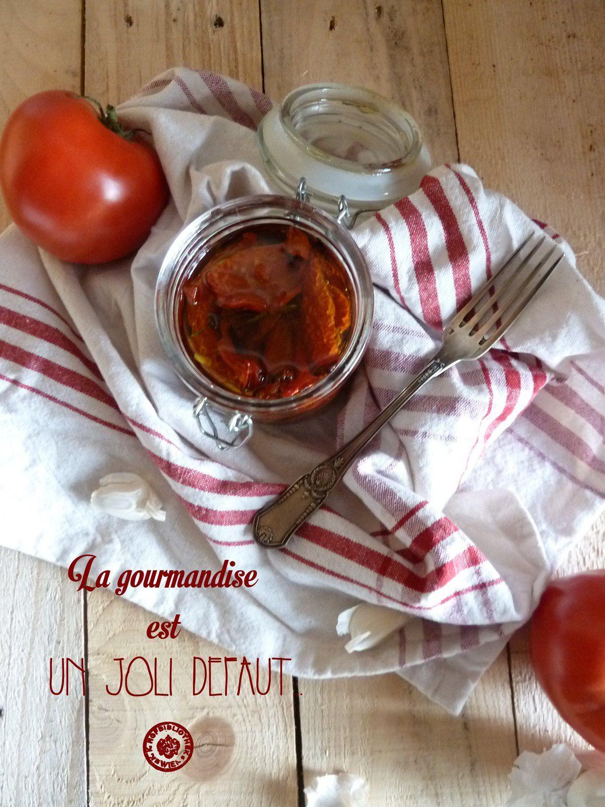 Tomates séchées dans l'huile {Semaine spéciale tomate #1 }
