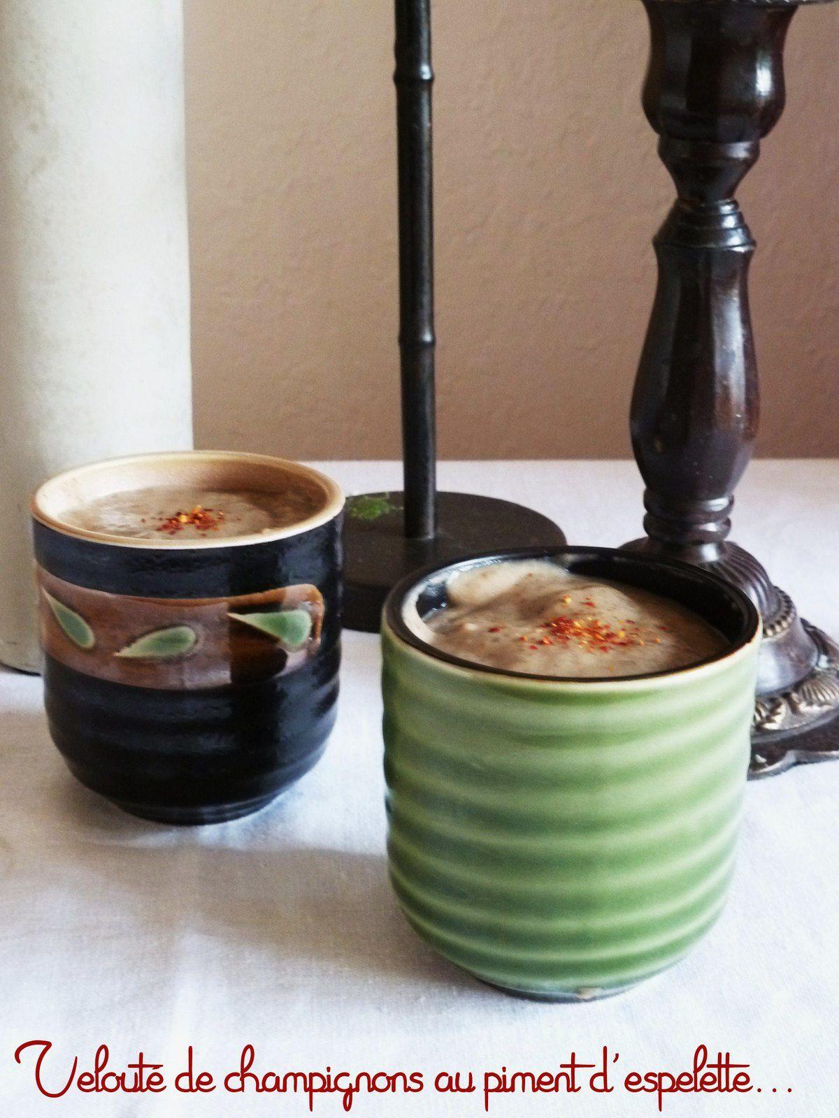 Soupe champignons espelette