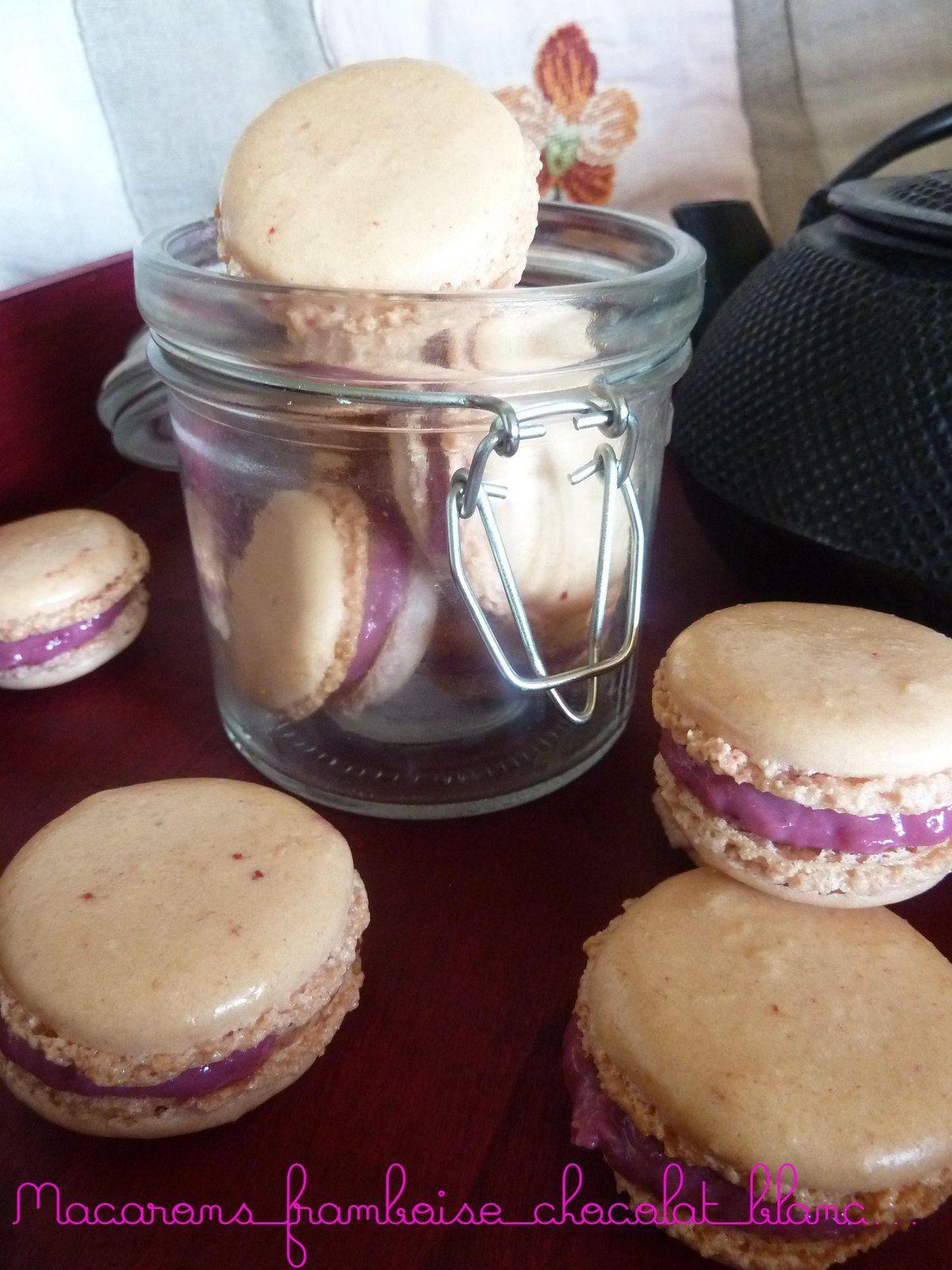 Macaron framboise et chocolat blanc