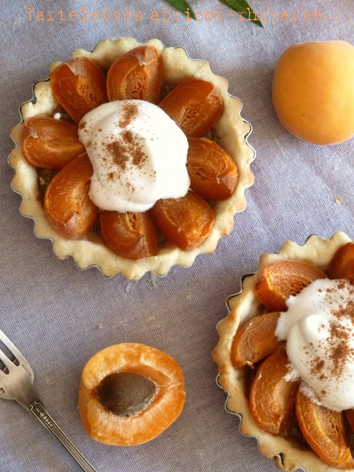 Tartelettes abricots -rhubarbe