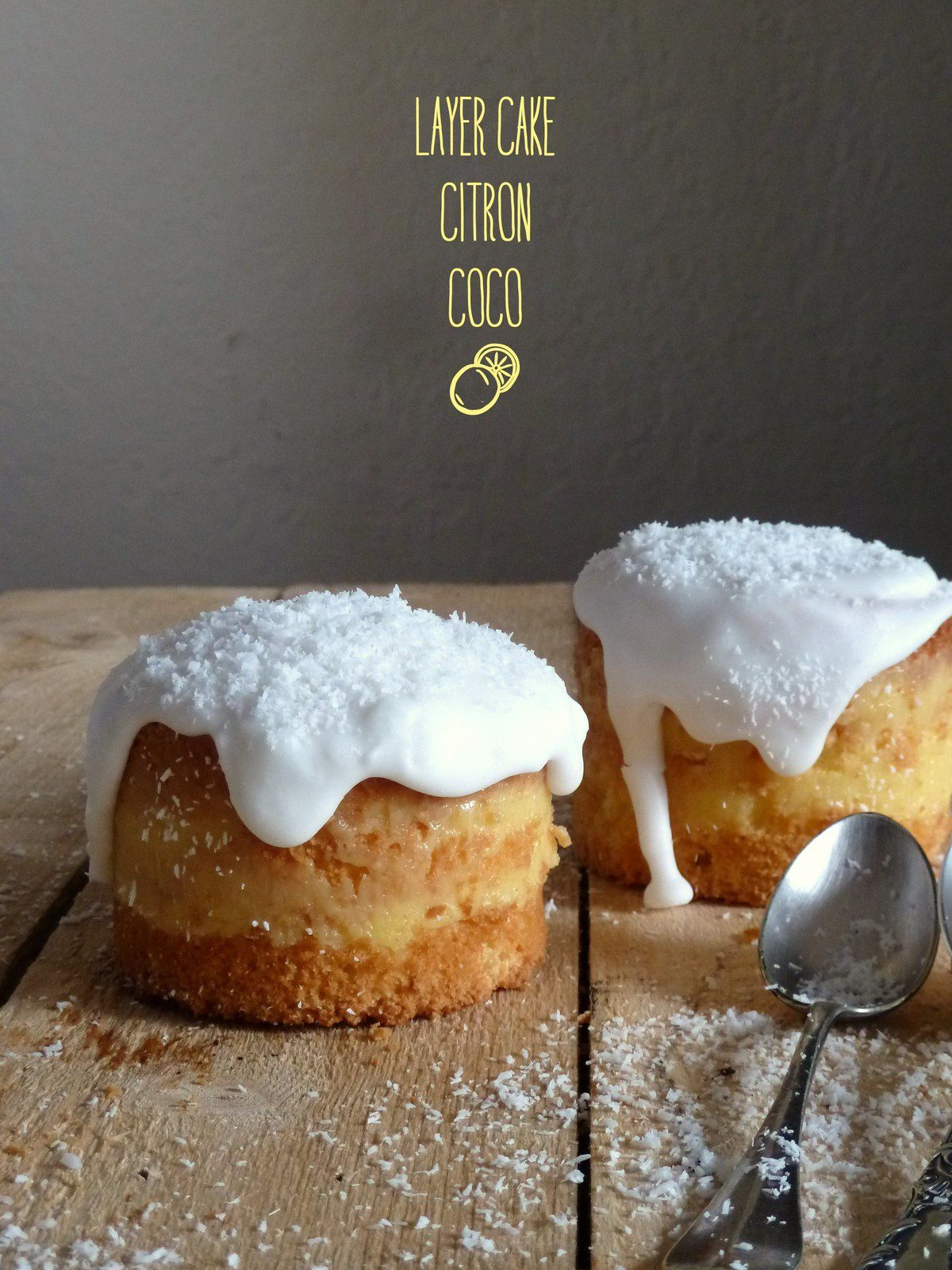 Layer cake citron-coco