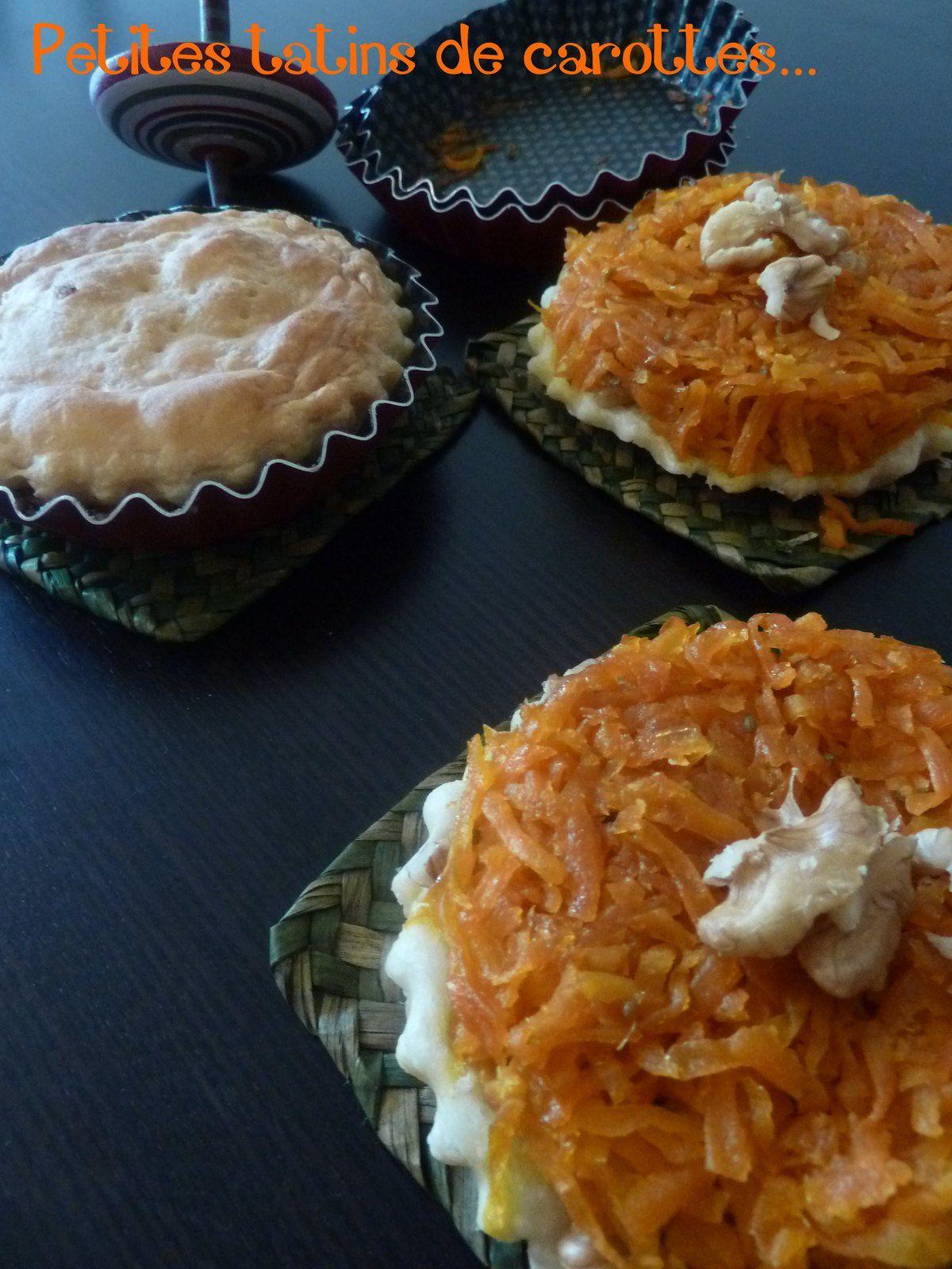 Petits tatins de carottes aux épices