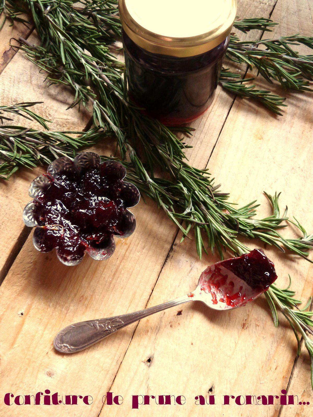 Confiture de prune au romarin